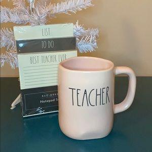Rae Dunn Teacher Gift Notepads & Pink TEACHER Mug